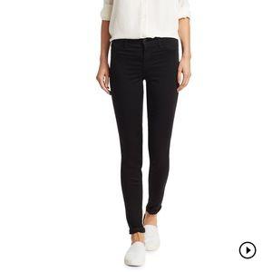 J Brand 485 Mid-Rise Luxe Sateen Super Skinny Jean